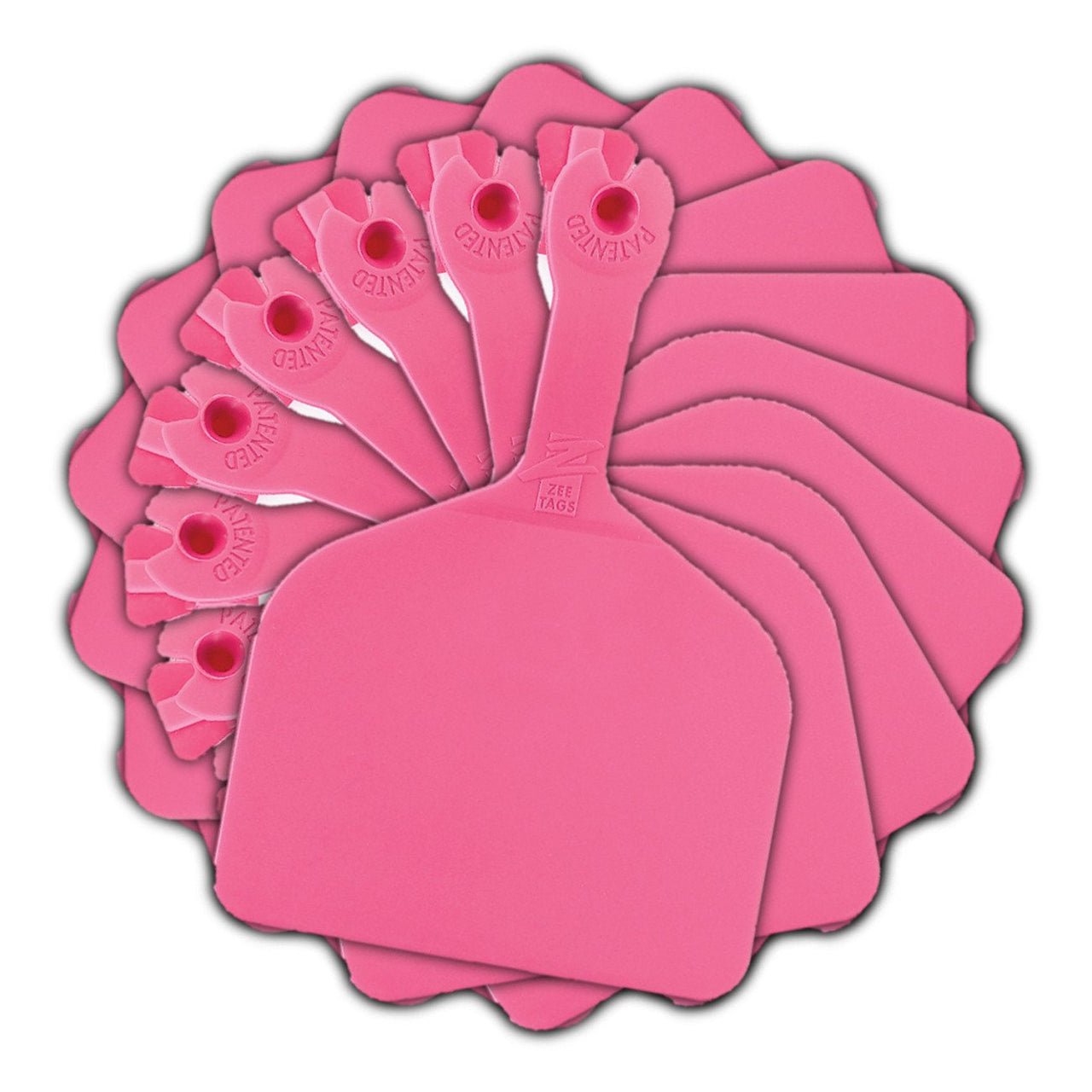 Z Tags Feedlot Blank - Pink (50 Pack) - Feedlot Tags Blank Z Tags - Canada