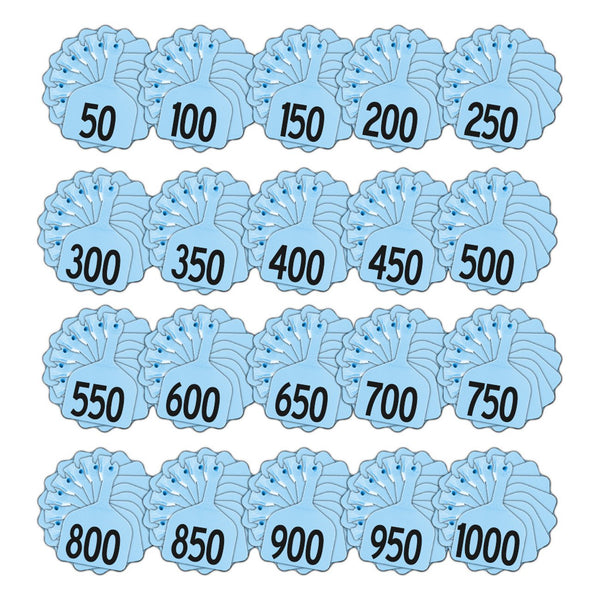 Z Tags feedlot pre-printed tags numbered 1-1000 (Blue)