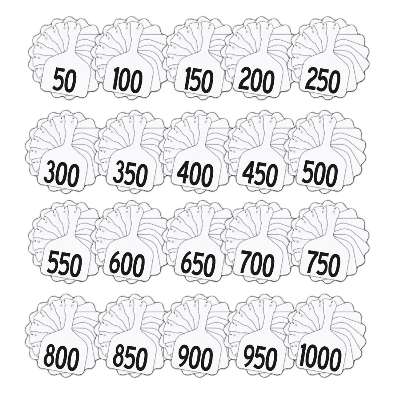 Z Tags Feedlot Pre-Printed Tags Numbered 1-1000 (White) - Feedlot Tags Pre-Printed Tags Numbered 1-1010 Z Tags - Canada