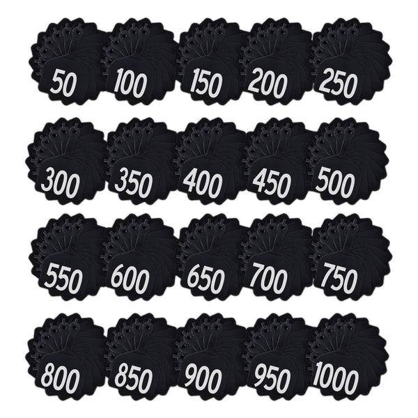 Z Tags feedlot pre-printed tags numbered 1-1000 (Black)