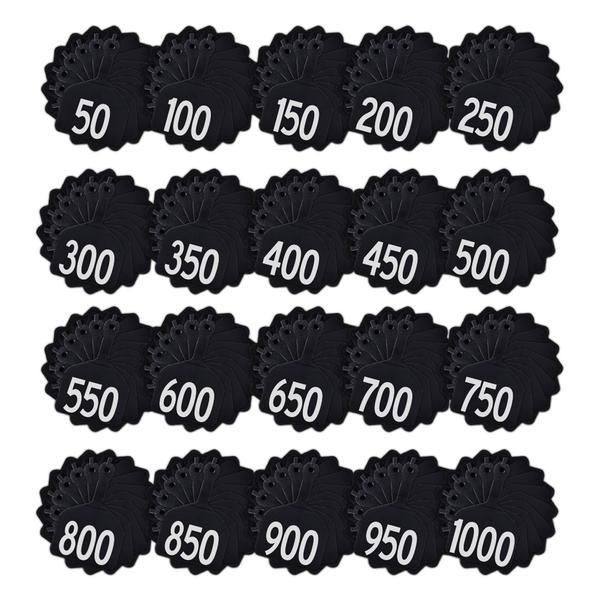 Z Tags 1 Piece Feedlot Stamped 1-1000 In Bundles Of 50 (Black) - Pre-Printed Tags Z Tags - Canada