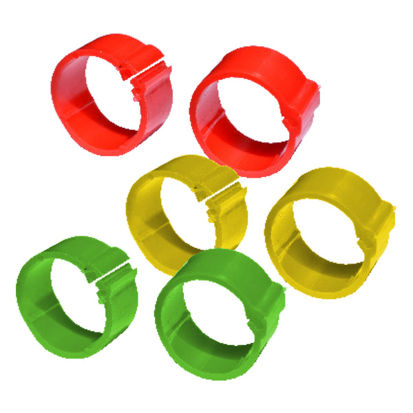 Tuff Stuff Poultry Ring Assorted Colours - Medium (100 Pack) - Poultry Rings Tuff Stuff - Canada