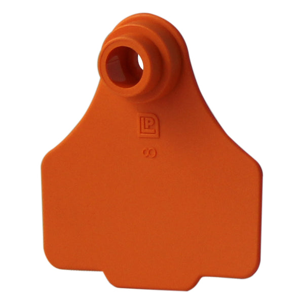 Medium 2Pc Orange - 25S - Orange - Ear Tags Leader Products - Canada