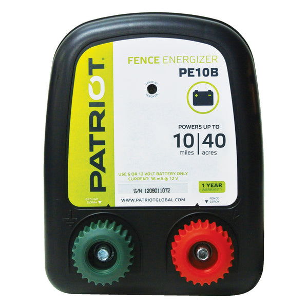 Patriot Pe10B Fence Charger (Dc) - Fencing Patriot - Canada