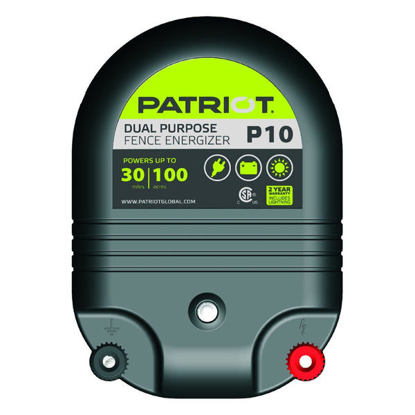 Patriot P10 Dual Purpose Fence Charger (12V/110V) - Fencing Patriot - Canada