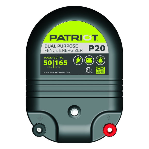 Patriot P20 Dual Purpose Fence Charger (12V/110V) - Fencing Patriot - Canada