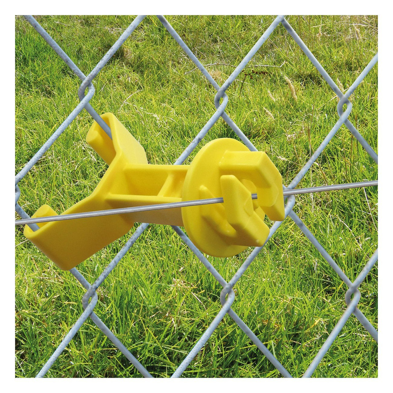 Patriot Chain Link Insulator - Yellow (25 Pack) - Fencing Patriot - Canada
