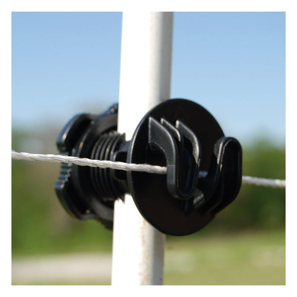 Patriot Screw-On Rod Post Insulator - Black (25 Pack) - Fencing Patriot - Canada