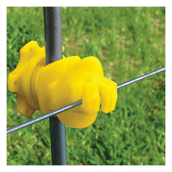 Patriot Screw-On Rod Post Insulator - Yellow (25 Pack) - Fencing Patriot - Canada