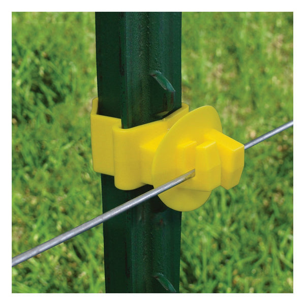 Patriot t-post claw insulator - yellow (25 pack)