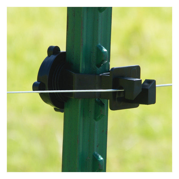 Patriot T-Post Screw On Insulator - Black (25 Pack) - Fencing Patriot - Canada