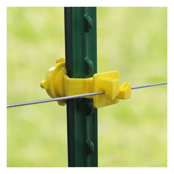 Patriot T-Post Screw On Insulator - Yellow (25 Pack) - Fencing Patriot - Canada