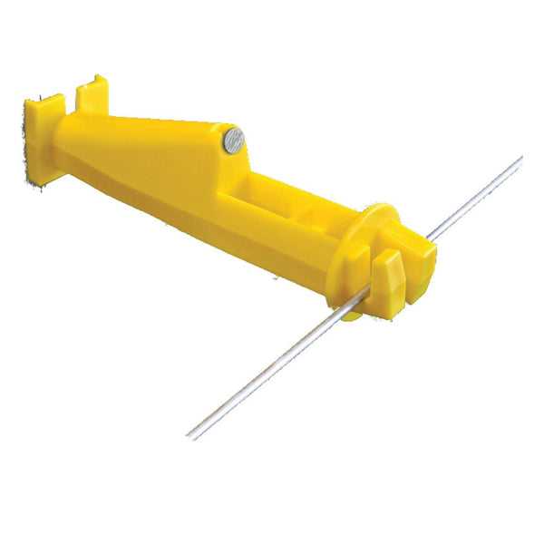 Patriot Wood Post 5 Slant Insulator Yellow (25 Pack) - Fencing Patriot - Canada