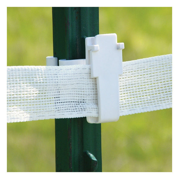 Patriot White T-Post Wide Tape Insulator (25 Pack) - Fencing Patriot - Canada