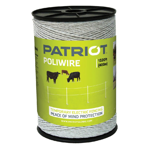 Patriot Poliwire - 1320 White - Fencing Patriot - Canada