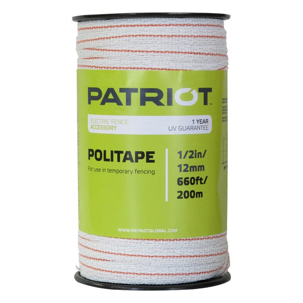 Patriot 1/2 Politape - 660 (White) - Fencing Patriot - Canada
