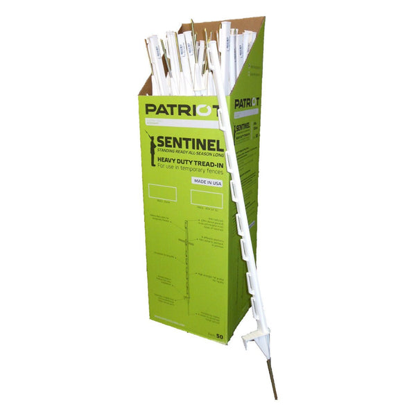 Patriot Sentinel Plastic Tread In Post White (50 Per Box) - Fencing Patriot - Canada