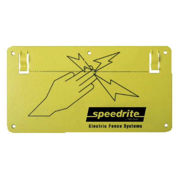 Speedrite Warning Sign (10X5X160Mil) (10 Pack) - Fencing Speedrite - Canada