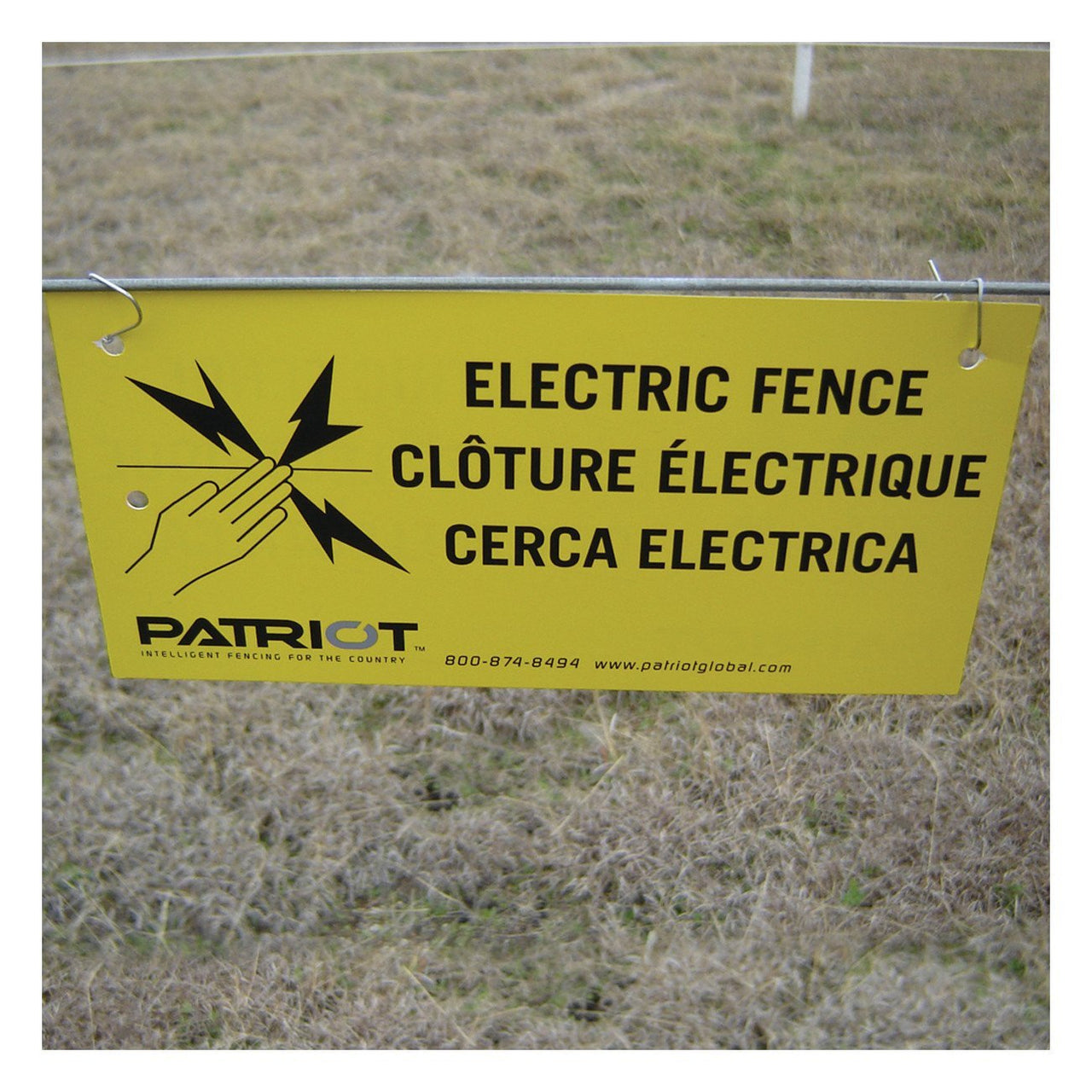 Patriot Warning Sign (8X4X40Mil) (10 Pack) - Fencing Patriot - Canada