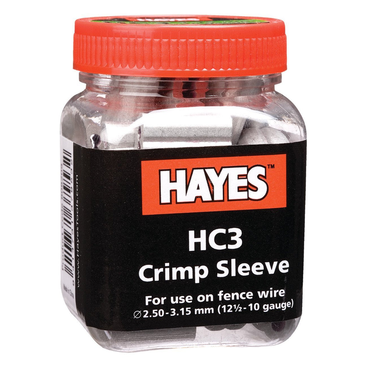 Hayes Hc3 Crimp 10 - 12 Ga. (50 Units) - Fencing Hayes - Canada