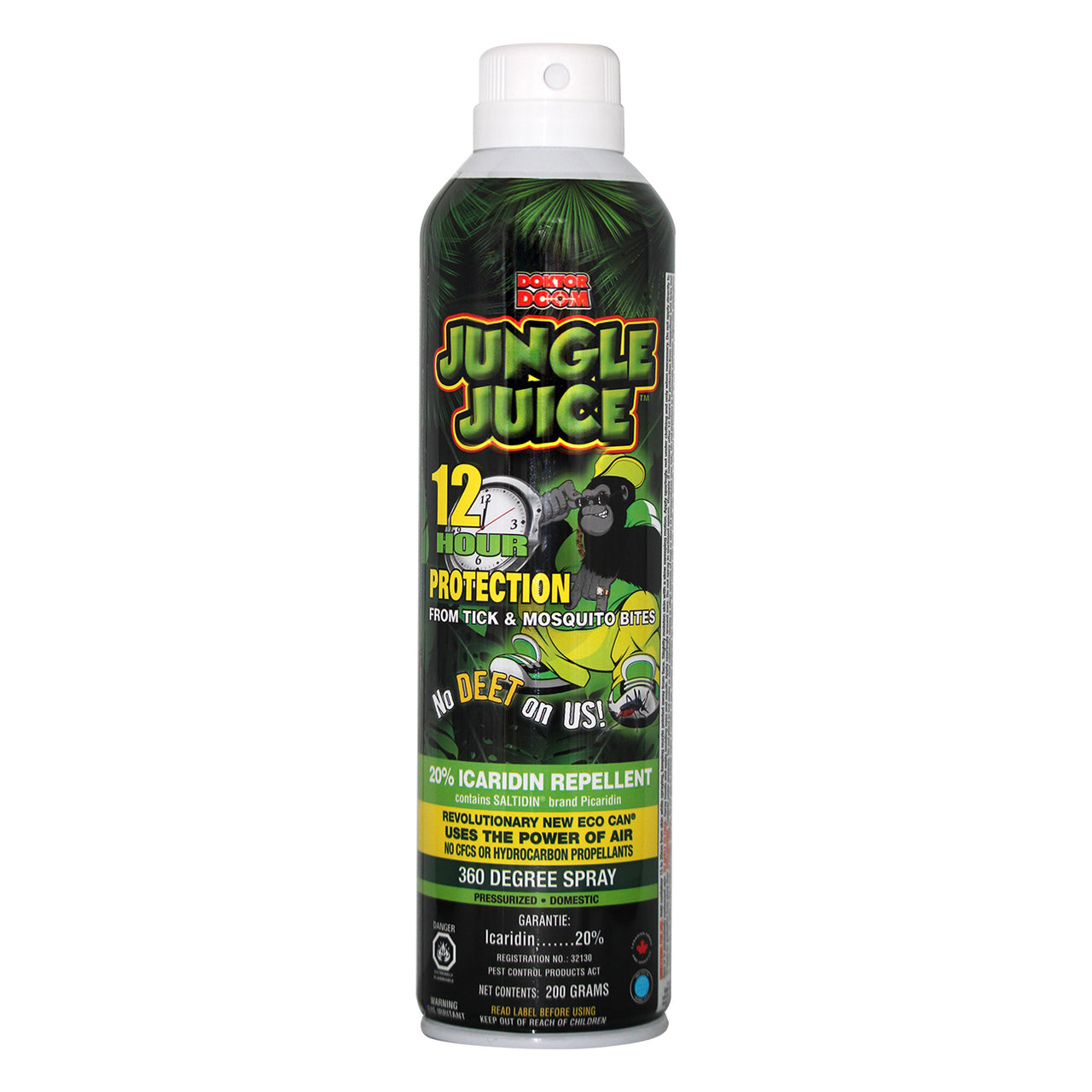 Doktor Doom Jungle Juice 12 Hour Protector 200Gr - Insect Repellant Doktor Doom - Canada
