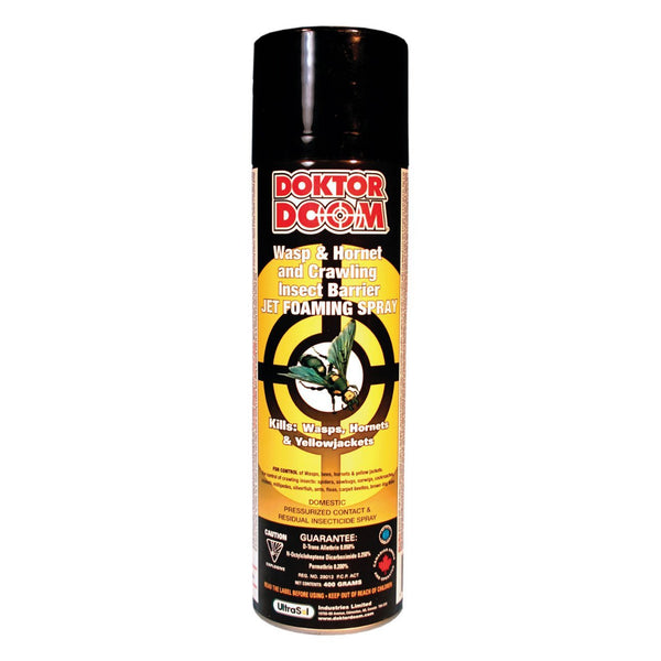 Doktor Doom wasp & hornet jet foam 544g 0.05%dta, 0.25%nob, 0.2%per - Remedy Animal Health Products Ltd.