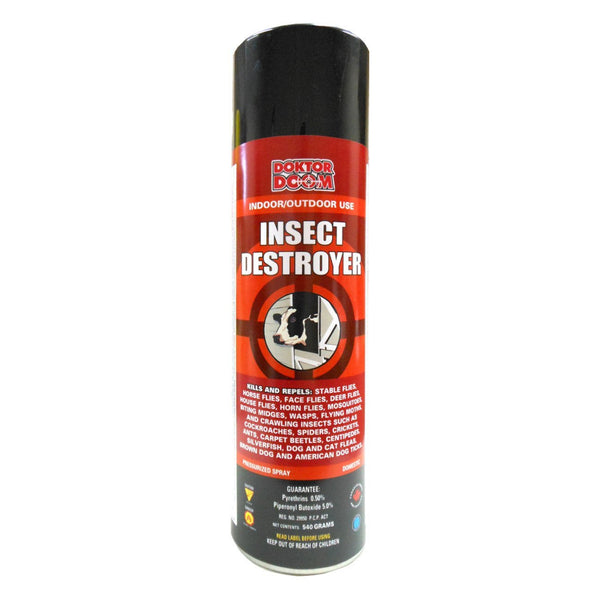 Doktor Doom insect destroyer 540g 0.5%pyr, 5%pbo - Remedy Animal Health Products Ltd.