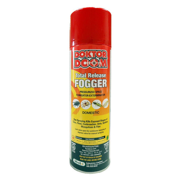 Doktor Doom total release fogger 400g 0.4%pyr, 2.0% pbo - Remedy Animal Health Products Ltd.