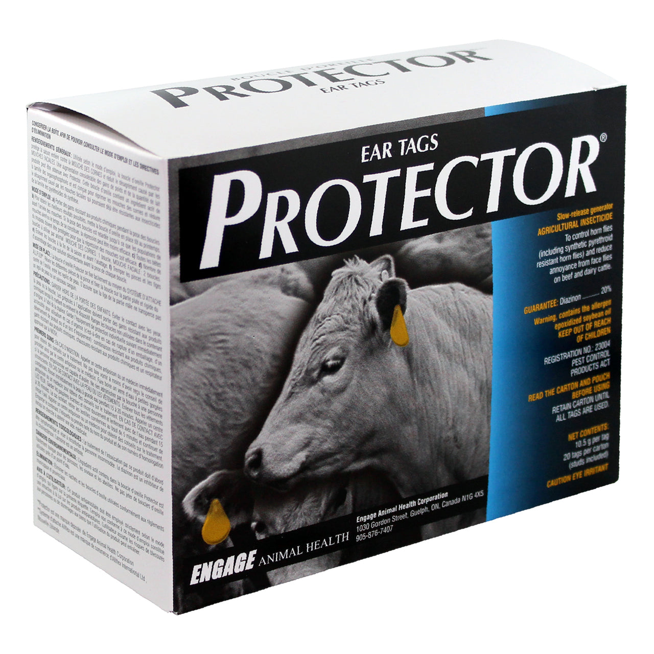 Protector Ear Tags (20 tags per carton | studs included)