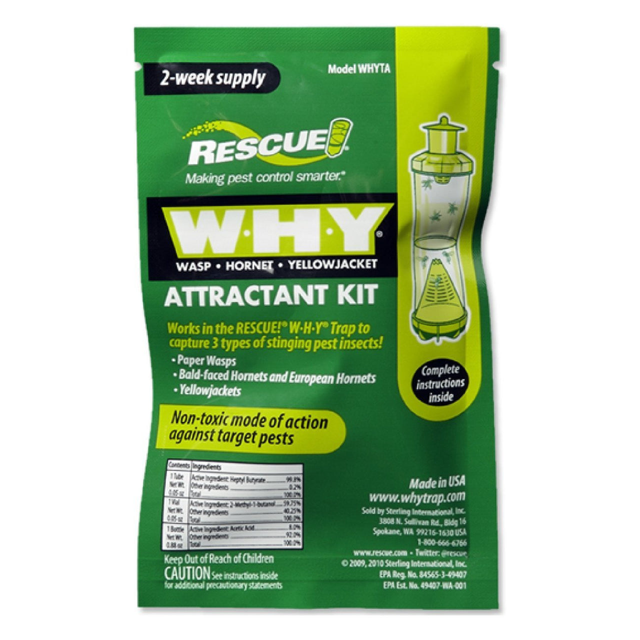 Rescue! Attractant For Reusable Yellowjacket Traps (36 Packs) - Pest Control Rescue! - Canada