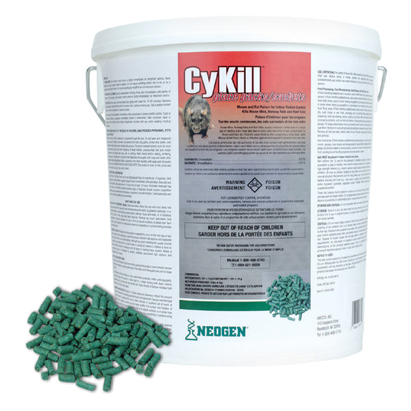 Cykill Place Pack Pail Bromethalin 0.01% 120X14G - Rodenticide Cykill - Canada