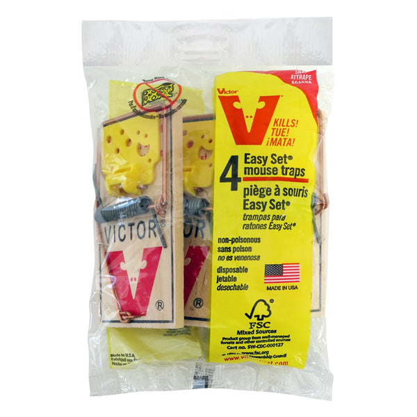 Victor Easy Set Mouse Trap (4 Pack) - Pest Control Victor - Canada