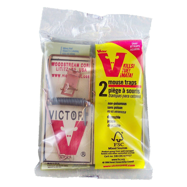 Victor Metal Pedal Mouse Trap (2 Pack) - Pest Control Victor - Canada