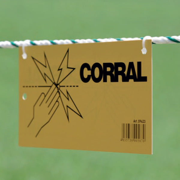 CORRAL warning sign electric fence