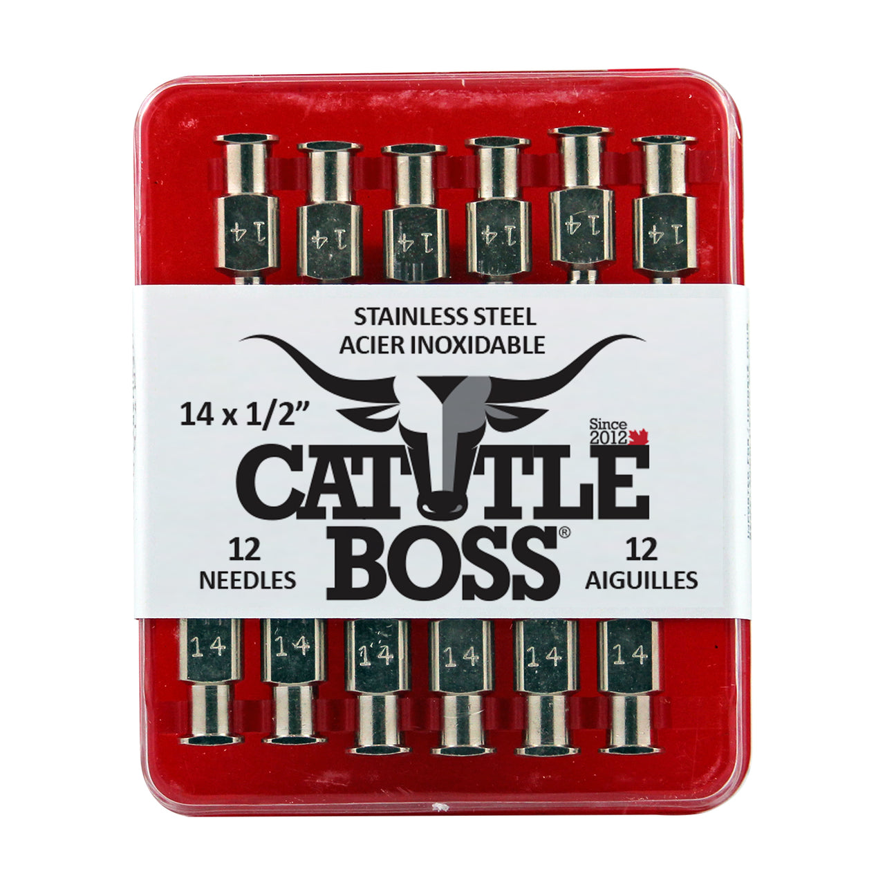 Cattle Boss stainless steel hub needle (12 pack) 14x1/2