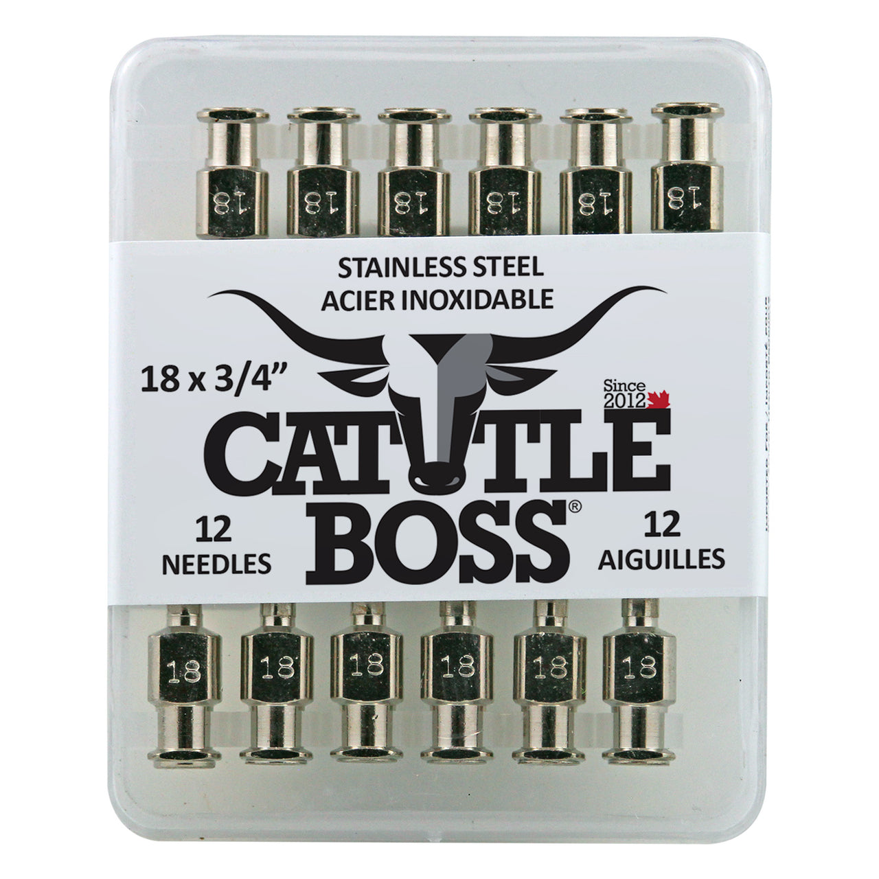 Cattle Boss stainless steel hub needle (12 pack) 18x3/4 - Remedy Animal Health Products Ltd.