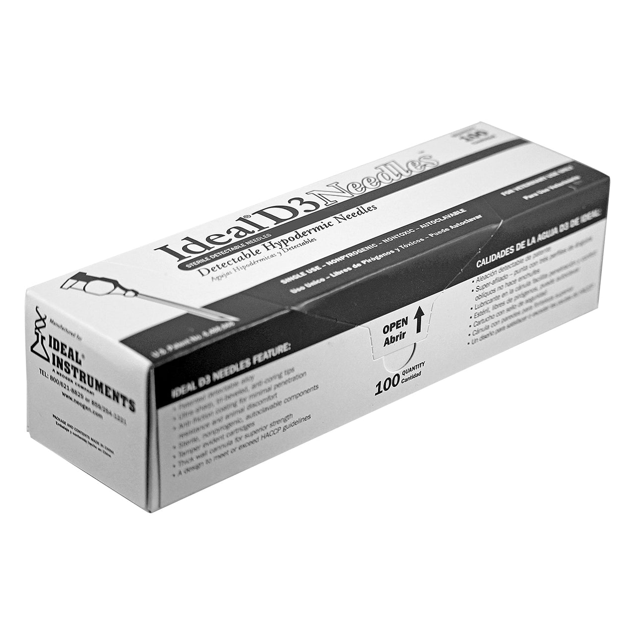 Ideal aluminum hub needle (100 per box) 18 X 1