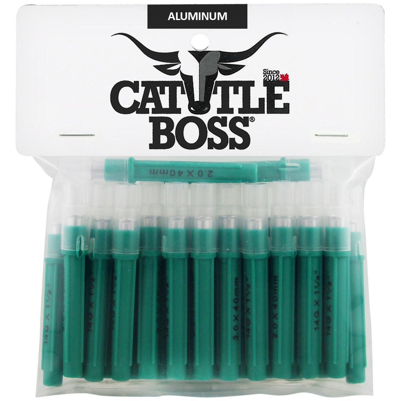 Cattle Boss Aluminum Hub Needles (25 Pack) 14 X 1 1/2 - Drug Administration Cattle Boss - Canada