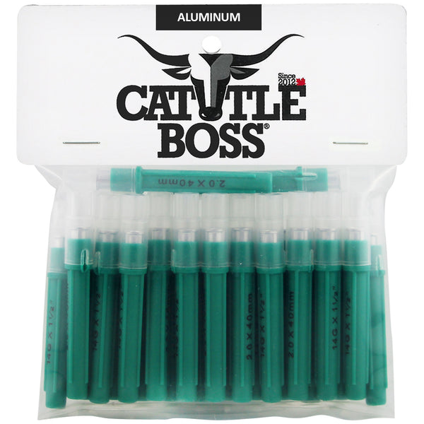 Cattle Boss aluminum hub needles (25 pack) 14 X 1 1/2 - Remedy Animal Health Products Ltd.