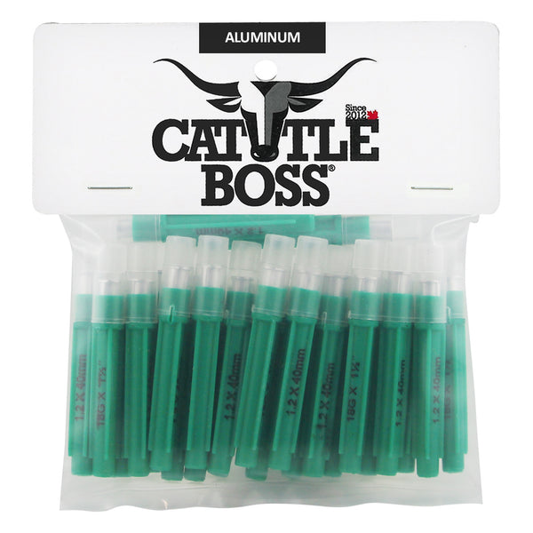 Cattle Boss aluminum hub needles (25 pack) 18 X 1 1/2 - Remedy Animal Health Products Ltd.
