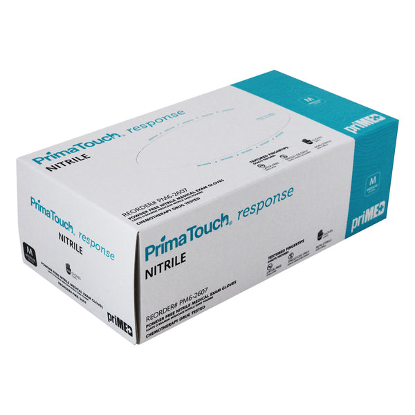 PrimaTouch Response Nitrile medical exam gloves Medium (300 per box)