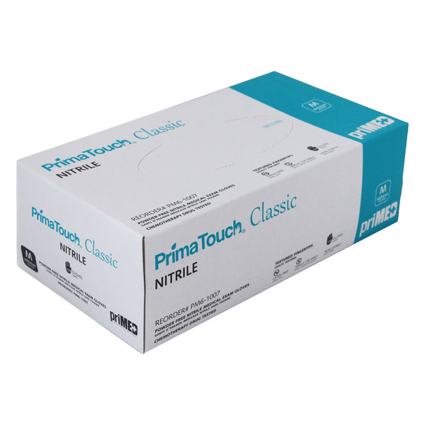 PrimaTouch Classic Nitrile gloves powder free Medium (150 per box)