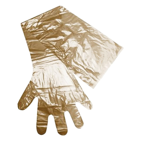 "APE ob/ai glove 39"" long by 32µm thick brown 100/pk - Remedy Animal Health Products Ltd."
