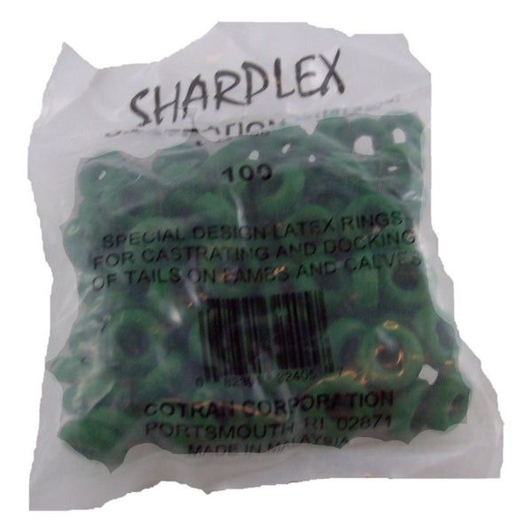 Sharpex Elastrator Rings 100 Bag - Veterinary Instrumentation Sharpex - Canada