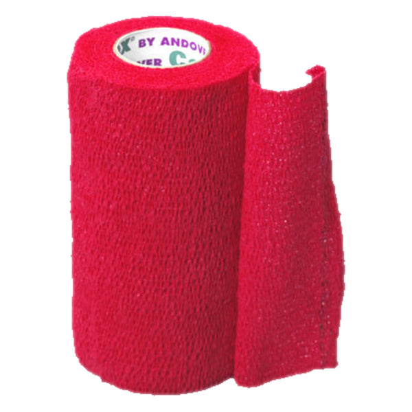Andover Coflexvet 4X 15 Bandage (Red) - Red - Wound Dressing Andover - Canada