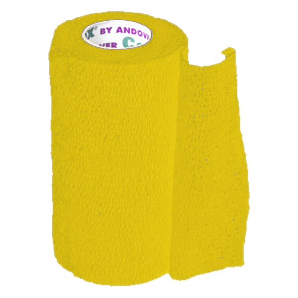 Andover Coflexvet 4X 15 Bandage (Yellow) - Wound Dressing Andover - Canada