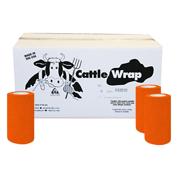 Cattle Wrap 4X 15 Bandage Orange (100) - Wound Dressing Cattle Wrap - Canada