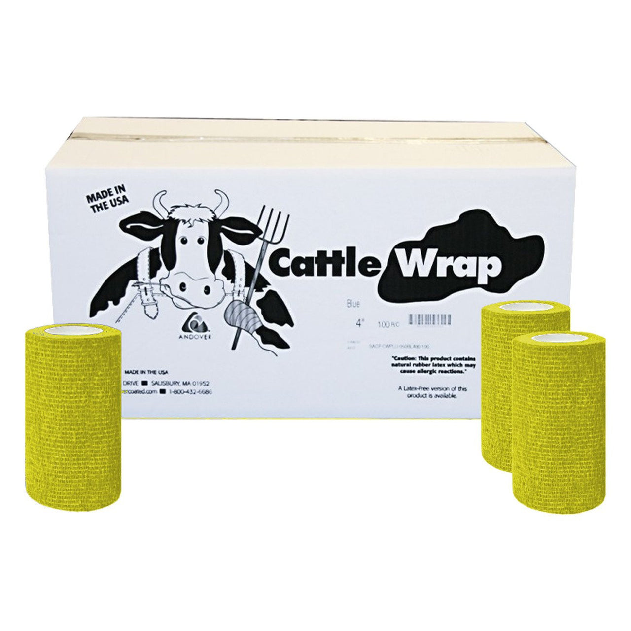 Cattle Wrap 4X 15 Bandage Yellow (100) - Wound Dressing Cattle Wrap - Canada