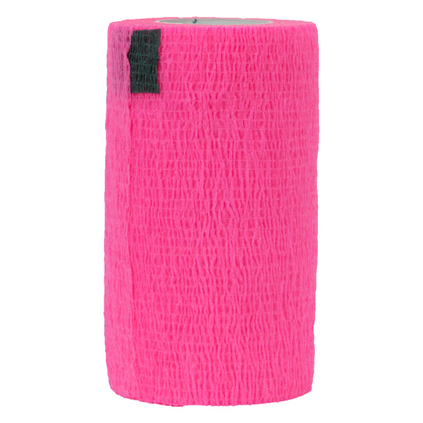 "Syrflex Cohesive Bandage 4""x 5 yds (NEON PINK)"