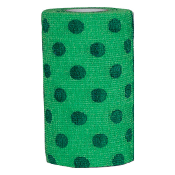 Andover Powerflex 4X15 Neon Green/blue Dots - Wound Dressing Andover - Canada
